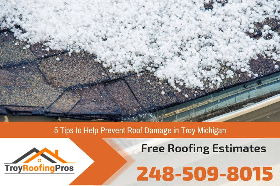 5 Tips to Help Prevent Roof Damage in Troy Michigan